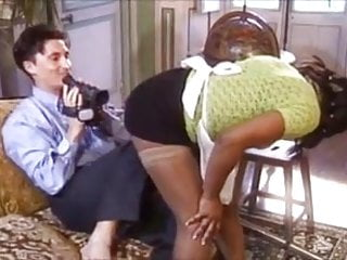 French ebony porn - French ebony maid prefers anal