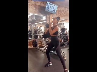 Nicole scherzinger porno - Nicole scherzinger sexy workout in tight black outfit at gym