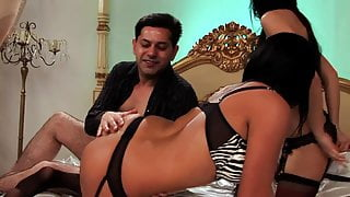 Horny girls trust this dude to grant them orgasm which he delivers