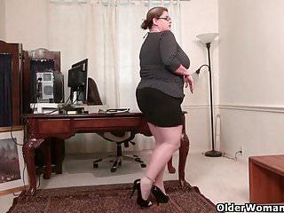 Nutrology kaboom action strips Bbw milf kimmie kaboom shows off her secretary skills