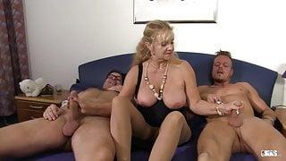 XXX Omas - German mature gets fucked hard in threesome