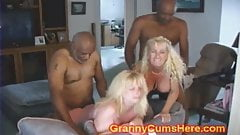 Two GRANNIES ass fucked by BBC