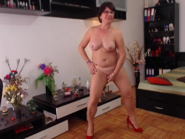 Mature strip dance