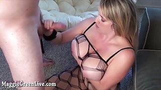 Big Titty Maggie Fucks in Body Stocking!