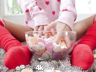 Erotic online valentines day cards Tiny4k creamy valentines day spread with tasty mouthful