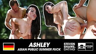 CREAM PIE OUTDOOR: SMALL ASIAN MILF! StevenShame.dating