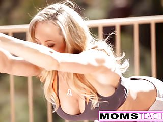 Drunk mom fucks son videos Momsteachsex - hot yoga mom fucks son and teen gf