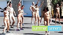 Hot fuck after naked yoga at SummerSinners