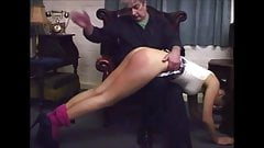 laura spanked with hand and letherbelt