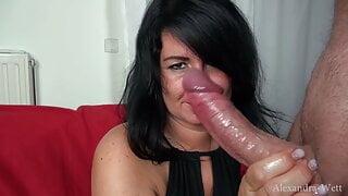 Alexandra Wett – Double sperm bomb directly in the fuck face
