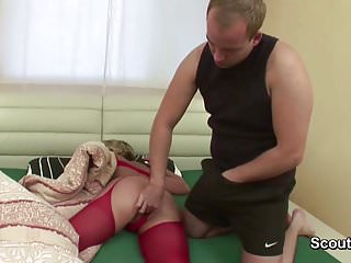 Son blackmails mom to fuck Step-son caught and seduce mom to fuck in the morning