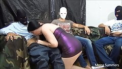 Mona Summers gangbang with 6 guys part 1