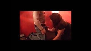 Milf slut gives blowjobs in adult theater pornteufel.tv