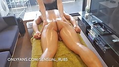 ASIAN GUY CUMS INSIDE ME AFTER EROTIC MASSAGE AND FINGERS ME