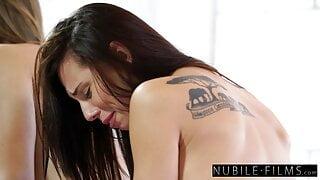 Hotties Jillian Jansen and Aidra Fox Share Huge Cock