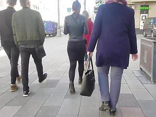 Ass skirt that up Brunettes ass in black skirt