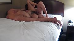 Hairy Wife Gets Worked on By 2 Fisting, Fucking, Squirting