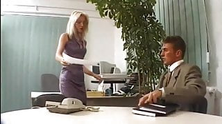 the little sweet blonde gets worried by three guys