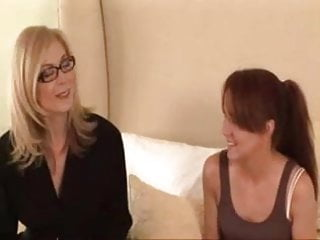 Big lesbian slumberparty - Mature woman seduces shy young girl...f70
