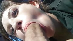 Teen Slut Public Car Boss Blowjob