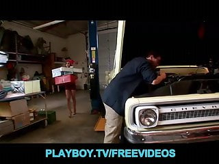 Cheap discount clearance lingerie - Cute teen in a costume seduces her mechanic for a discount