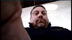 Daddy wanking in office