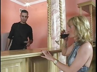 High heel in ass Milf uses her ass to satisfy the handyman