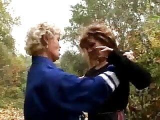 Two lesbian girls having sex Two grannies having lesbian sex outdoors