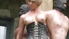 Mistress Brianna milks the slaves