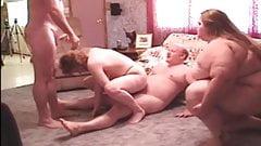 Velvet swingers club BBW mature and her friend swaps hubby