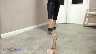 BBW Girl Oil Foot Fetish Sex Toy after Work