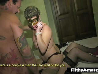 Homemade drunken orgy and cum Double penetration and cum in mouth for the mistress wife