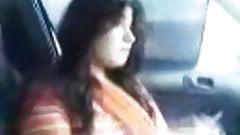 Desi beauty sucks bf's dick in car
