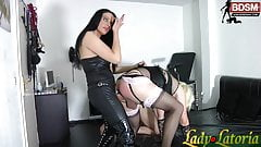 Bisexual male slave fuck strapon from german domina bdsm