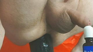 Toying my asshole with slink, tunnel plug and 8cm plug