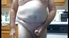 Old man of 65 age show in cam