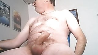 daddy wanking 002 with cum