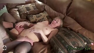 Mature Milf wife Cuckold Hubby as he Record's