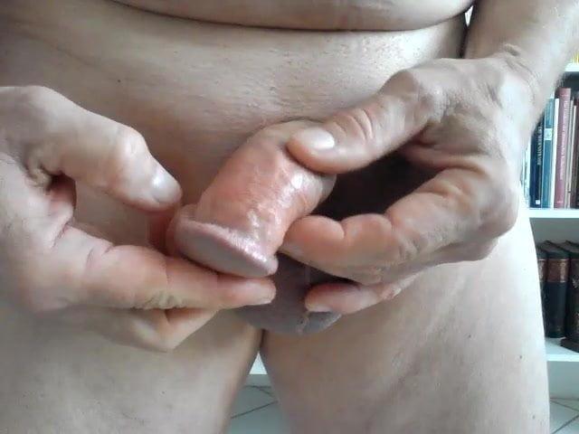 Foreskin masturbation cum