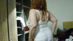 Olga in her big comfort corselet