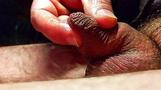 Soft uncut wrinkled cock & precum play with softcock orgasm