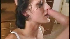 Lovely Sloppy Blowjob From Cute Brunette