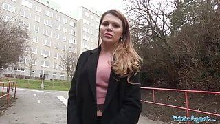 Public Agent – Russian shaved pussy fucked for cash