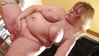 Big grandmama loves showing off her big tits