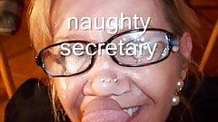 Зрелая секретарша любит сперму на ее очки