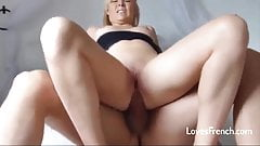 Anal sex with a blonde french girl