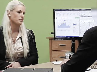 Video porn on line Loan4k. agent gives blonde some money for on-line shop with