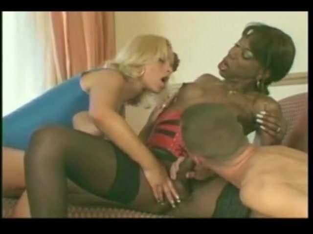 Black Shemale Fucks Man