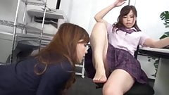 Japanese schoolgirl dominates and humiliates her teacher