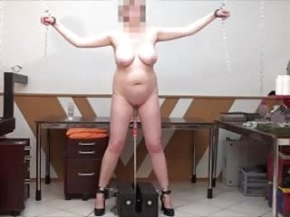 Tit stand Standing sex machine fuck